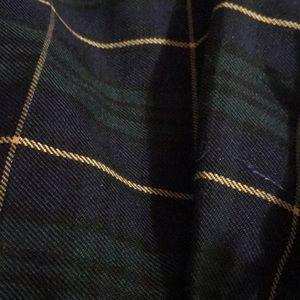 Plaid pleated green skirt pics 2